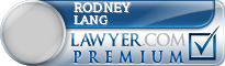 Rodney P. Lang  Lawyer Badge