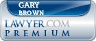 Gary Brown  Lawyer Badge