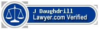 J Wesley Daughdrill  Lawyer Badge