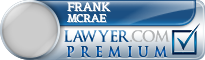 Frank Edwin Mcrae  Lawyer Badge