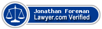 Jonathan William Foreman  Lawyer Badge