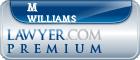 M Binford Williams  Lawyer Badge