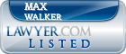 Max Walker Lawyer Badge