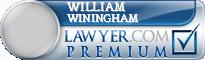 William Edward Winingham  Lawyer Badge