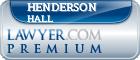 Henderson S Hall  Lawyer Badge