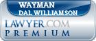 Wayman Dal Williamson  Lawyer Badge