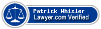 Patrick Joseph Whisler  Lawyer Badge