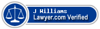 J Dudley Williams  Lawyer Badge