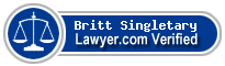 Britt R Singletary  Lawyer Badge