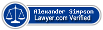 Alexander J Simpson  Lawyer Badge