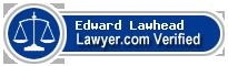 Edward Charles Lawhead  Lawyer Badge