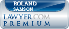 Roland F Samson  Lawyer Badge