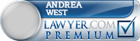Andrea L West  Lawyer Badge