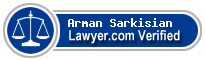 Arman Garo Sarkisian  Lawyer Badge