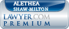 Alethea Michelle Shaw-Milton  Lawyer Badge