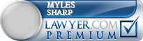 Myles E Sharp  Lawyer Badge