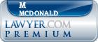M Andrew Mcdonald  Lawyer Badge