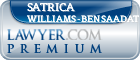 Satrica Williams-Bensaadat  Lawyer Badge