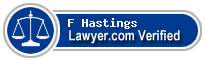 F Victor Hastings  Lawyer Badge
