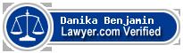 Danika Angele Benjamin  Lawyer Badge