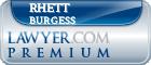 Rhett William Burgess  Lawyer Badge
