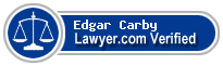 Edgar Hyde Carby  Lawyer Badge