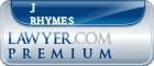 J Michael Rhymes  Lawyer Badge