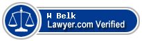 W Dean Belk  Lawyer Badge