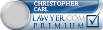 Christopher Edwin Carl  Lawyer Badge