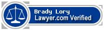 Brady Jay Lory  Lawyer Badge