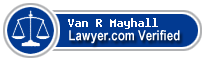 Van R Mayhall  Lawyer Badge