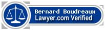Bernard E Boudreaux  Lawyer Badge