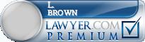 L. Jarod Brown  Lawyer Badge
