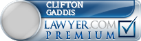 Clifton S Gaddis  Lawyer Badge