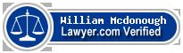 William L Mcdonough  Lawyer Badge
