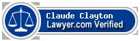 Claude F Clayton  Lawyer Badge