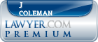 J Price Coleman  Lawyer Badge
