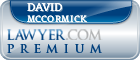 David O Mccormick  Lawyer Badge