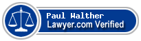 Paul D Walther  Lawyer Badge