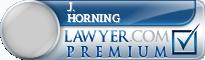 J. David Horning  Lawyer Badge