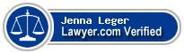 Jenna Laird Leger  Lawyer Badge