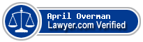 April M Overman  Lawyer Badge