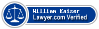 William Joseph Kaiser  Lawyer Badge