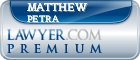 Matthew Gregor Petra  Lawyer Badge