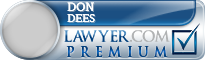 Don A Dees  Lawyer Badge