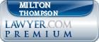 Milton Ollie Thompson  Lawyer Badge