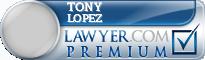 Tony S. Lopez  Lawyer Badge