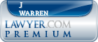 J Benjamin Warren  Lawyer Badge