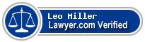 Leo A Miller  Lawyer Badge