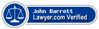 John W Barrett  Lawyer Badge